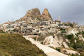 Panoramic view on fortress Uchisar, Cappadocia, Turkey — Stock Photo