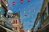 Famous Istanbul street fish restaurants landmark Kumkapi — Stock Photo