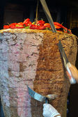 Turkish food Doner Kebab — Stock Photo