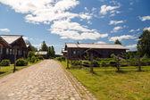 Luoghi del villaggio russo di verkhniye mandroghi — Foto Stock
