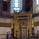Hagia Sophia Interior in Istanbul, Turkey — Stock Photo #49862669