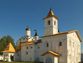 Church of the Protection of the Theotokos with refectory of Svir — Stock Photo