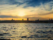 City asia Istanbul in Bosphorus — Stock Photo