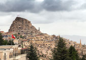 Fortress Uchisar, landscape in Cappadocia, Turkey — Stock Photo