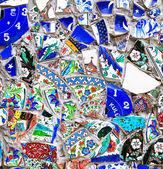 Mosaic Pattern of broken ceramics — Stock Photo