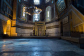 Hagia Sophia Interior in Istanbul, Turkey — Stock Photo