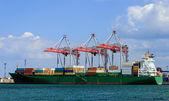 Cargo container ship — Stockfoto