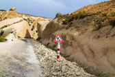 Road Works Ahead Warning Road Sign Cappadocia — Stock Photo