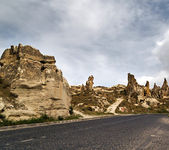 Stone formations in Cappadocia, Turkey. — Stock Photo