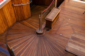 Deck of the sailboat — Stock Photo