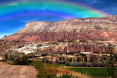 Rainbow on mountain — Stock Photo