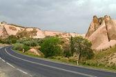Road in valley Cappadocia Turkey — Stock Photo