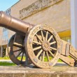 Old Russian cannon «Licorne» — Stock Photo