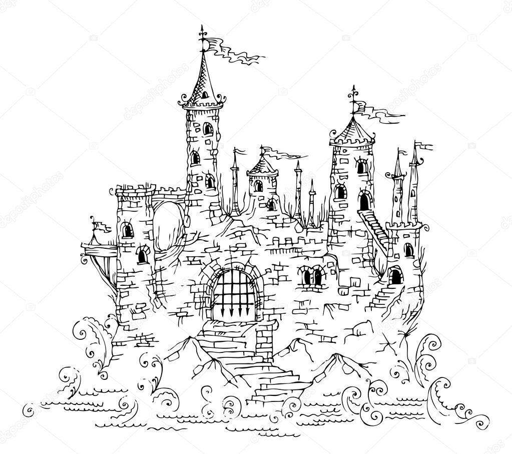 △童话风格的欧式城堡建筑