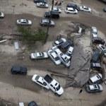 furacão de areia. rescaldo em Nova york — Foto Stock