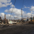 Hurricane Sandy. The Aftermath in New York - 图库照片