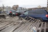 Huracán arena. las secuelas en Nueva york — Foto de Stock
