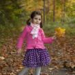 Stock Photo: Adorable girl in autumn park