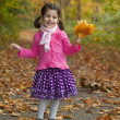 Adorable girl in autumn park — Stock Photo #14975759