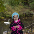 Adorable girl in autumn park — Stock Photo #14975799