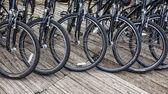 Détail de la roue d'un groupe de vélos — Photo