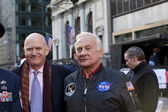 New York, NY - Nov 11: Astronaut Buzz Aldrin is involved in vet — Stock Photo