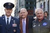 New York, NY - Nov 11: Astronaut Buzz Aldrin is involved in vet — Stock Photo