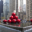NEW YORK - DECEMBER 26: Christmas Decorations in Rockefeller Cen — Stock Photo
