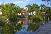 Luxurious Caribbean resort. — Stock Photo