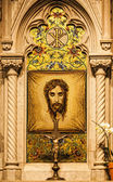 Mosaic of Veronica's Veil in Saint Patrick's Cathedral. New York — Stock Photo