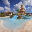 Luxury resort with tropical pool - Stock Photo