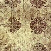 ダマスク織パターンを持つヴィンテージ グランジ背景 — ストック写真