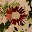 Art grunge floral vintage background - Stok fotoğraf