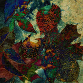 Art floral autumn vintage background — Photo