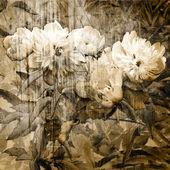 Art grunge floral vintage background — Stock Photo