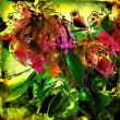 Art glass floral colorful background — Stock Photo