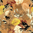Art floral autumn background card — Stock Photo