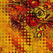 Art floral ornament vintage background — Stock Photo