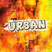 Art urban graffiti raster background — Stockfoto
