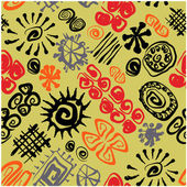 Art vintage vector seamless pattern background — Stock Photo