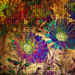 Art floral grunge graphic background — Foto de Stock