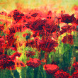 Art floral colorful watercolor background - Stock Photo
