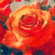 Art floral colorful watercolor background — Foto Stock