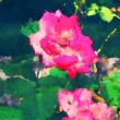 Art floral colorful watercolor background - Photo