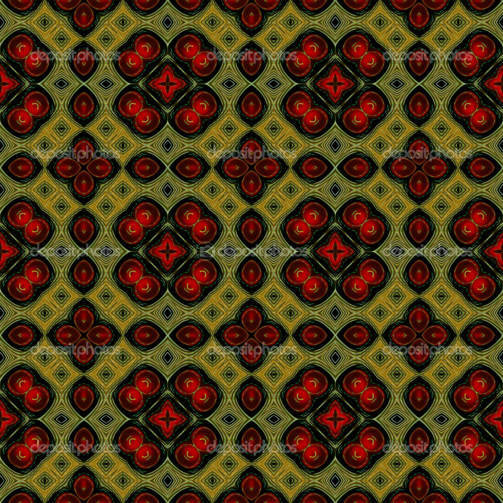 Art eastern ornamental traditional pattern with red and green — Stock Photo #16793231