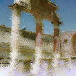 Art background with europen antique town, Pompeii — Stock Photo #16808687
