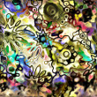 Stock Photo: Art glass floral colorful background