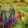 Stock Photo: Art abstract grunge squares background