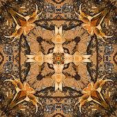 アール ヌーボー様式のカラフルな装飾的なヴィンテージ パターン — ストック写真