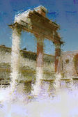 Art background with europen antique town, Pompeii — Stock Photo